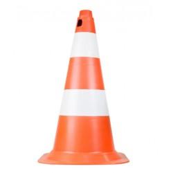 Cone Sinalização -  50cm Branco E Laranja