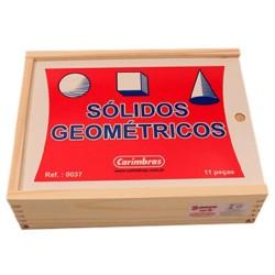 Brinquedo Educativo Sólidos Geométricos Madeira - Carimbras